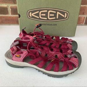 KEEN Whisper Women's US Size 10.5 Red sandals